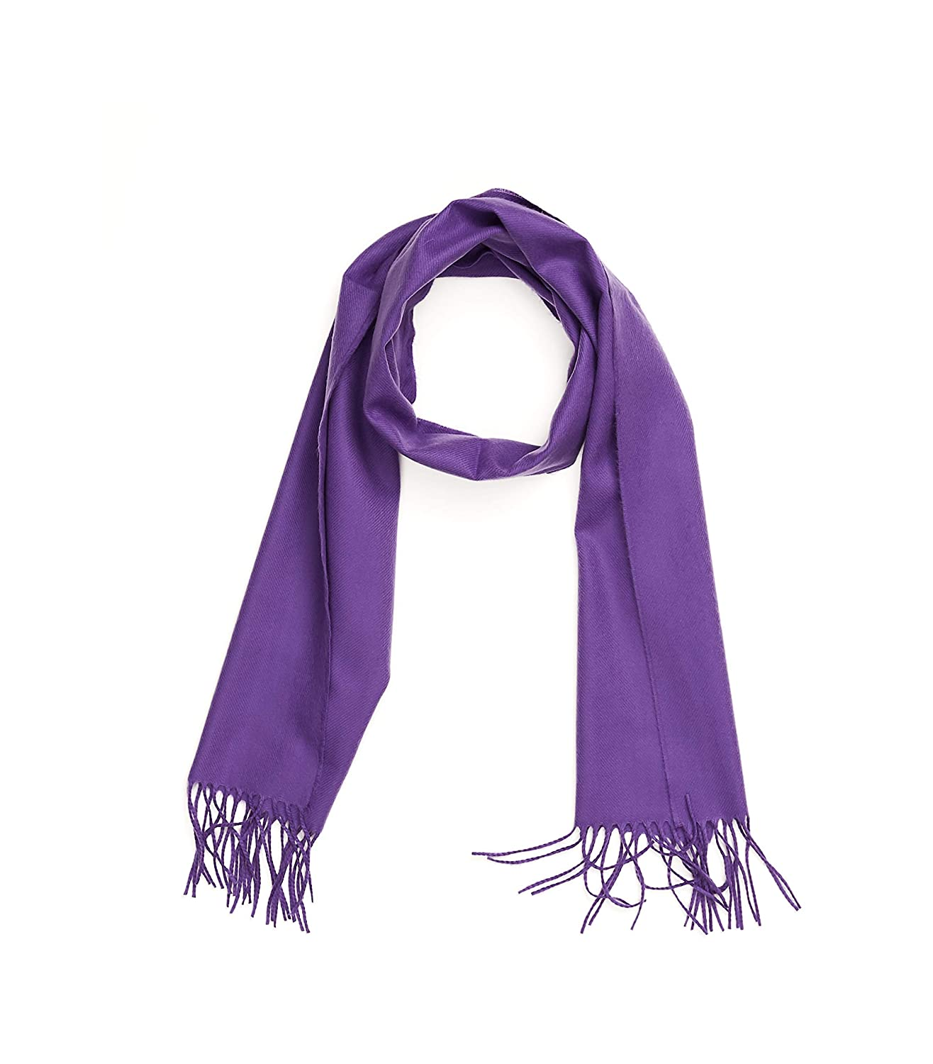 Purple INVERNO Super Soft Luxurious Cashmere Feel Warm Winter Solid Plain color Unisex Scarf