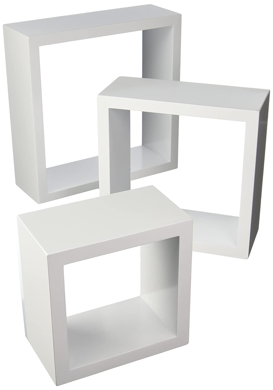 amazoncom organize it all wall wood cube organizer home  kitchen -