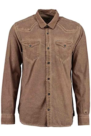 Chemise Garcia Homme Jeans Marron Camouflage s61030 Minimaliste drrxTq