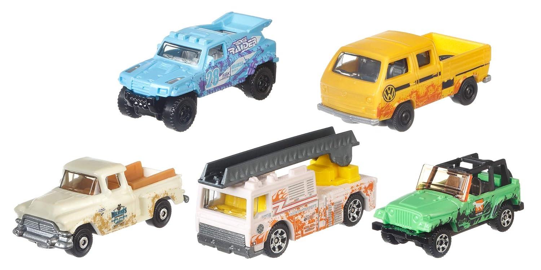 C1817 Matchbox Pack de 5 veh/ículos del desierto coches de juguete modelos surtidos Mattel