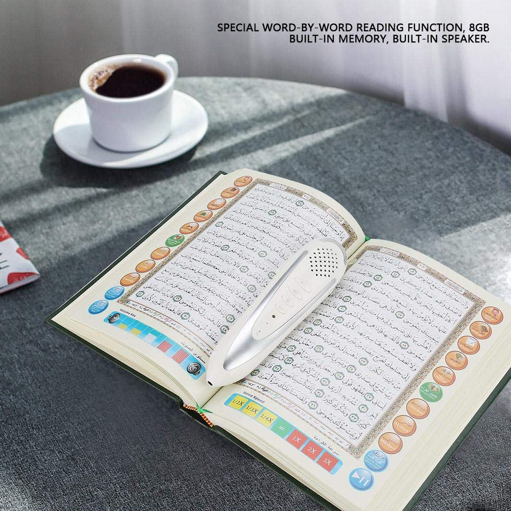 EU Akozon Digital Quran Pen Reader Preghiera musulmana islamica Sacro Corano Leggere Regalo 8 GB Funzione Word-by-Word Facile per Bambini e Studenti Arabi Download