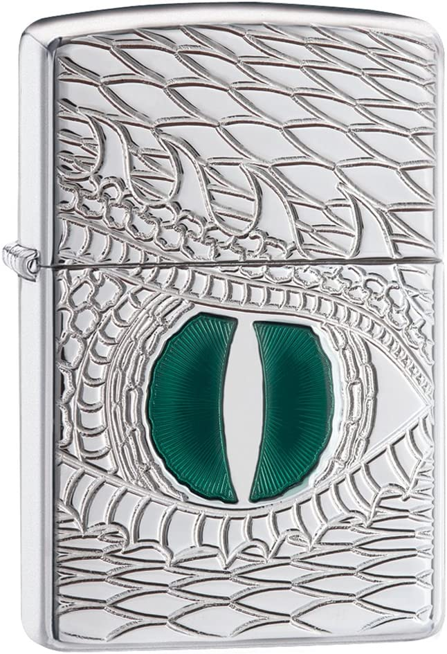 ZIPPO(ジッポー) Dragon Lighters (ドラゴン ライター) 日本未発売 High Polish Chrome Dragon's Eye [並行輸入品]