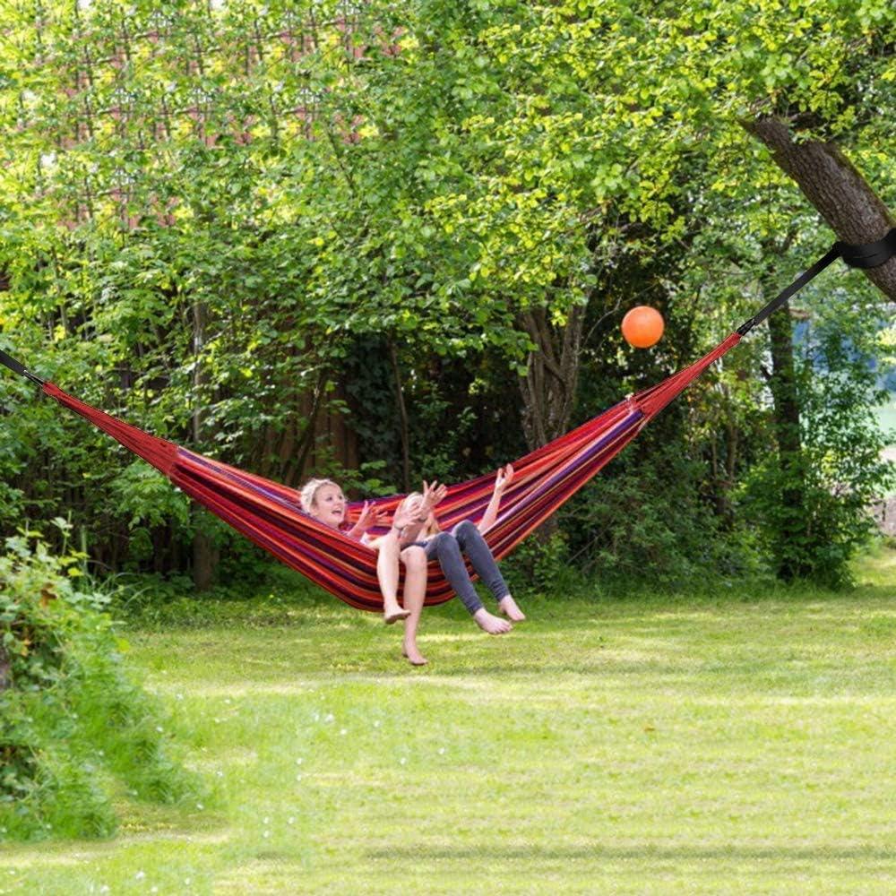 Rouge YanYun 185X80 Cm Hamac 1 Personne Loisirs de Plein Air Lit Camping Hamac Suspendu BalannOire Chaise Paresseuse