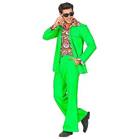 WIDMANN 09394 - Disfraz de años 70 para hombre, verde, XL ...