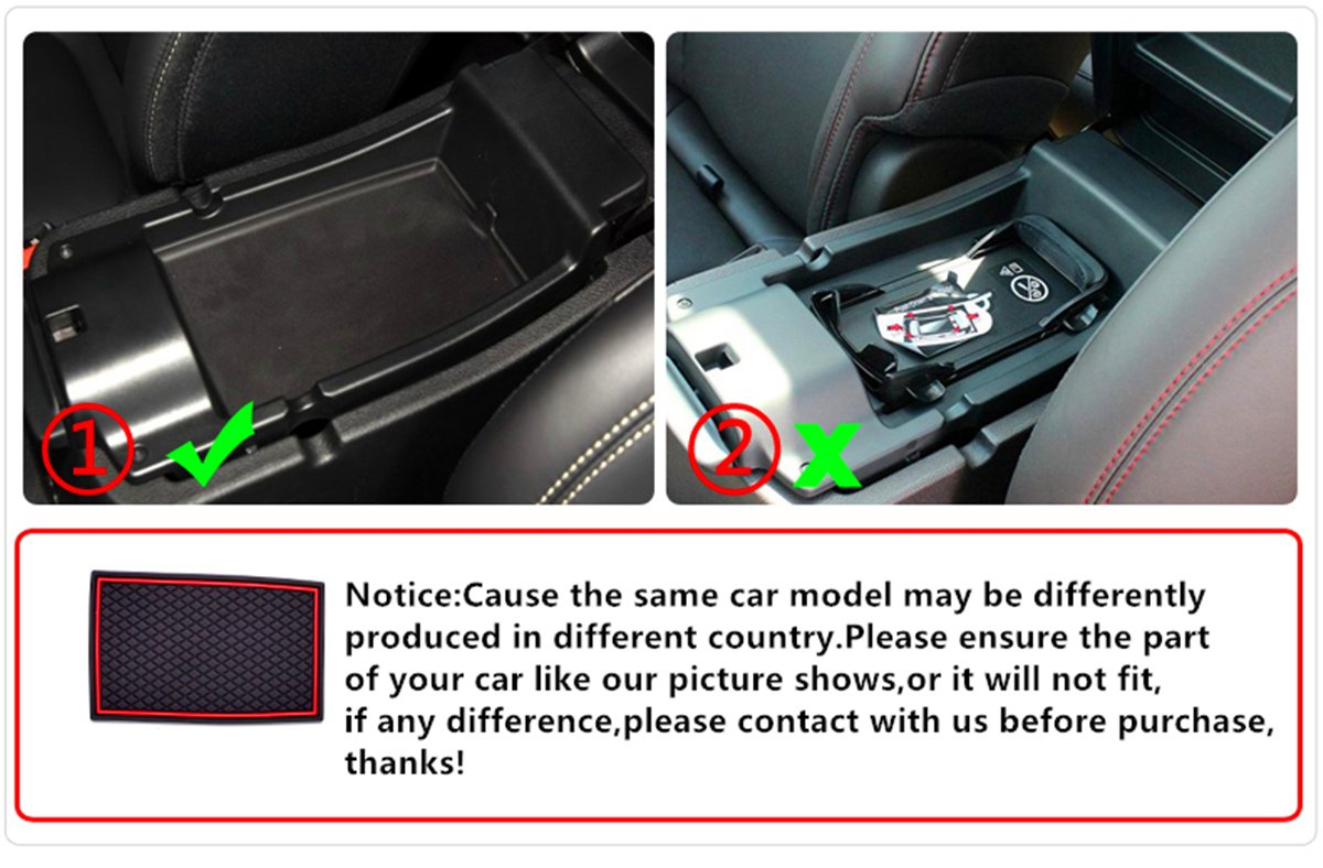 TOPPOWER Red Anti-dust Non-Slip Interior Door,Cup,Arm Box,Storage Mat Fit Jeep Cherokee 2014-2016 Pack of 25