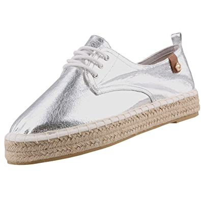 Tamaris Damen Schnürschuhe Silber (Metallic), Schuhgröße:EUR