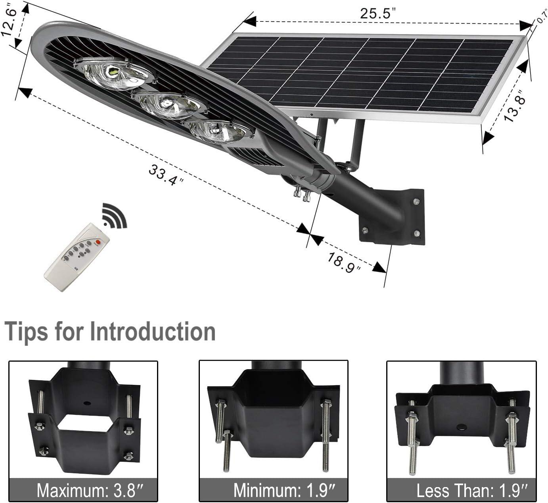 Flag Light Outdoor Solar LED Adjustable Lamp Head Weather Resistant Rustproof