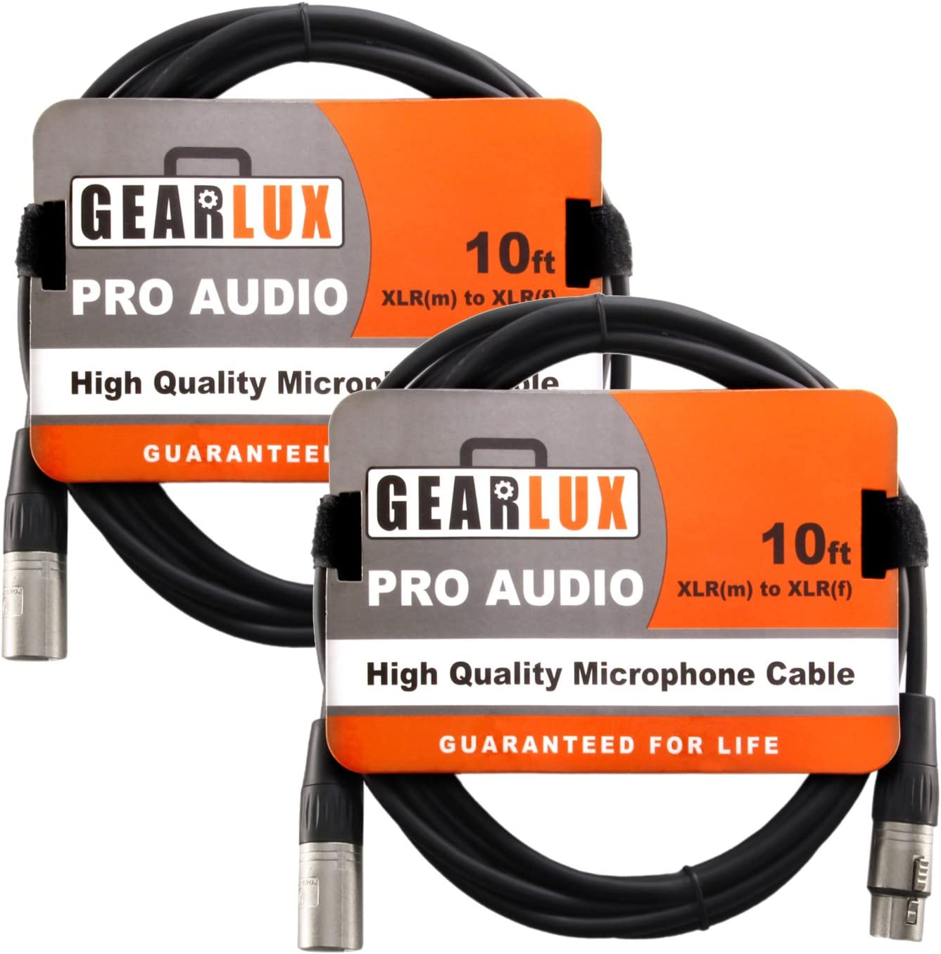 10 Pack 10 Foot Gearlux XLR Microphone Cable