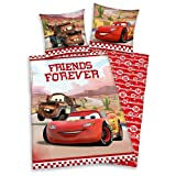 Disney Cars - Kids Reversible Duvet Set Linon 80 / 80 x 135 / 200 cm