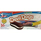 Drakes Devil Dogs 16-creme Filled Devils Food Cakes, 26.5 Oz