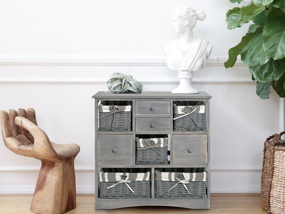 Credenza Rustica Vintage : Rebecca mobili credenza mobile bagno cassetti cesti legno