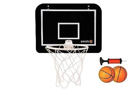 Mini Canasta de Baloncesto Infantil de Interior Incluye Tablero, Bomba y 2 Pelotas de Goma - Apto para Puertas de Casa, Oficina o Dormitorio