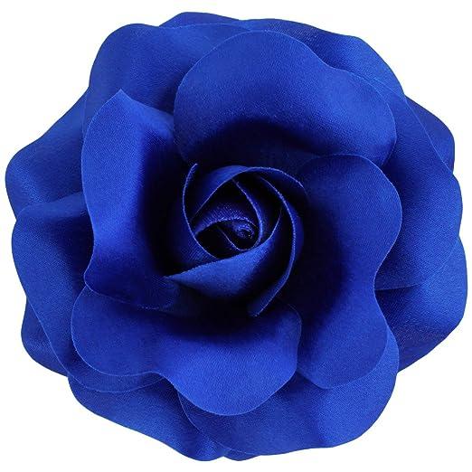 Black Chunky Floral Imprimé Rose Pince à Cheveux Pince Clip Grip