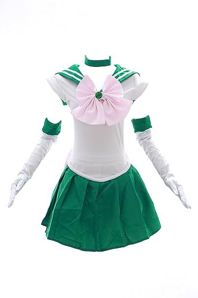 Kawaii-Story H de 6002 Sailor Moon Jupiter Verde Blanco Disfraz ...