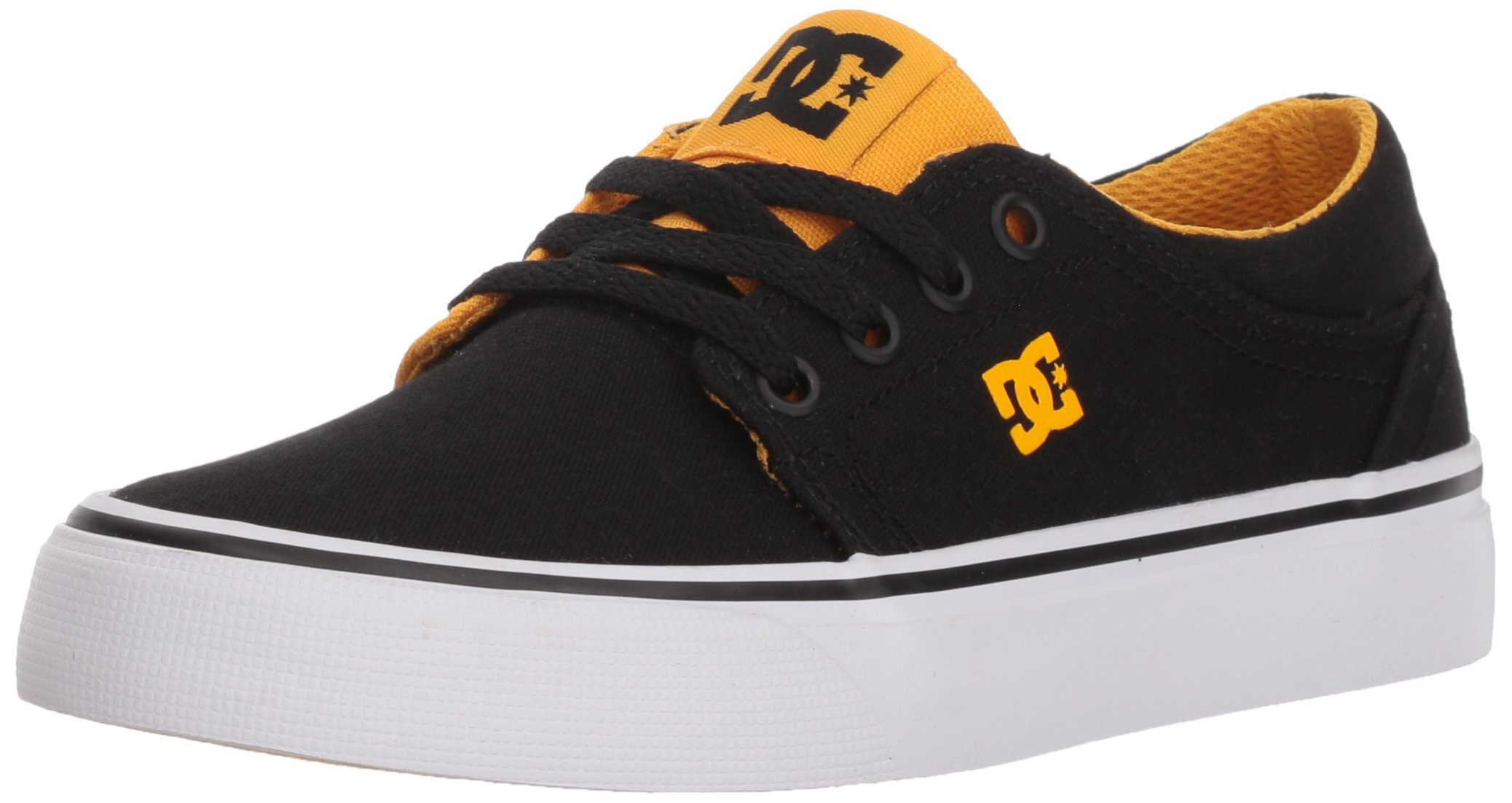 DC Boys' Trase TX Skate Shoe, Black/Yellow, 3.5 M M US Big Kid