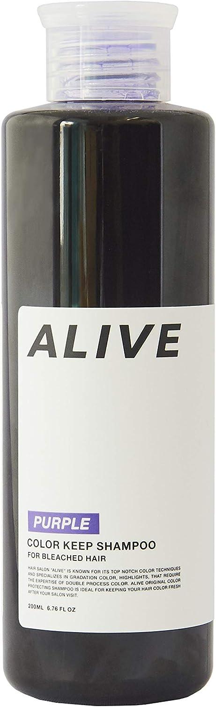 ALIVE アライブ カラーシャンプー 極濃 紫シャンプー 200ml ムラサキ パープル ムラシャン ムラサキシャンプーのサムネイル