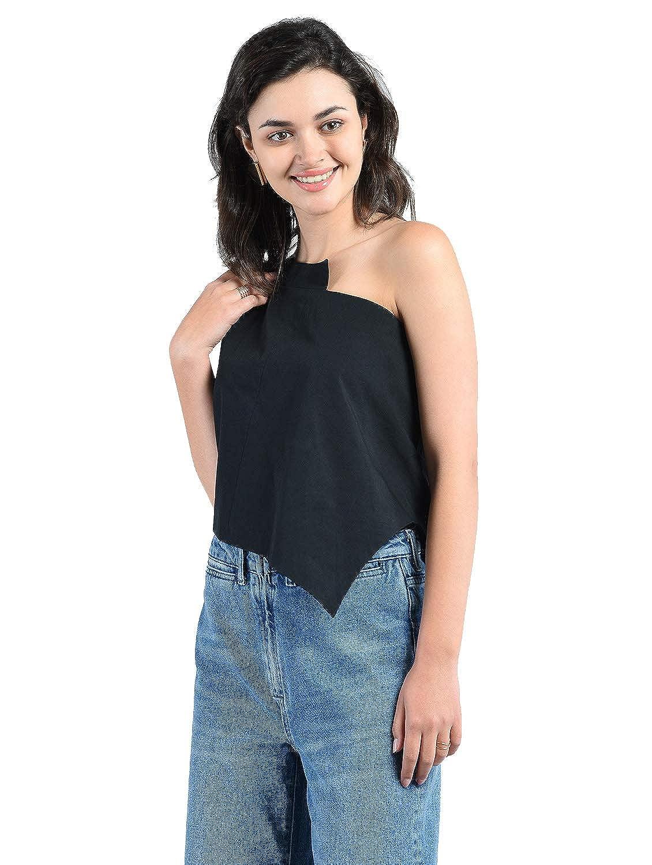 993070ff62df0c AARA One Shoulder Sleeveless Crop Top/Sleeveless Crop Top for Women Crop Top  Women & Girls/One Shoulder Crop Top_(20180106): Amazon.in: Clothing & ...
