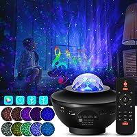 LED Star Projector Lights 2 in 1 Sterrenhemel Nachtlampje Lamp & Ocean Wave Projector Cadeaus voor kinderen Volwassenen…