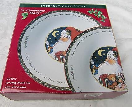 Amazon.com | International China CHRISTMAS STORY Serving Bowl Set of ...