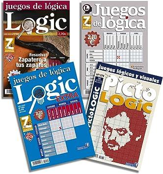 DataPrice Pack de 4 Libros de Pasatiempos de Lógica. Juegos de Lógica para Adultos Variados. - Ed. Zugarto -.: Amazon.es: Juguetes y juegos