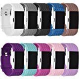 GHIJKL Sports Band Compatible Fit bit Charge 2, Soft Silicone Wristband for Fi tbit Charge 2,Women Men, Large Small