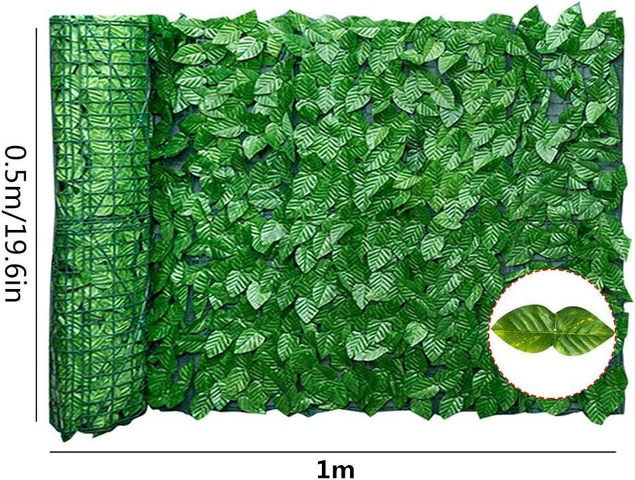 0.5 * 1m, Color Printing Apple Artifical hedge privacy screen garden,Artificial ivy leaf garden fence//wall privacy screening hedge,Artificial ivy privacy fence screen,Artificial ivy hedge roll
