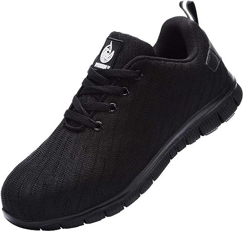 DYKHMILY Zapatillas de Seguridad Hombre Impermeable Zapatillas de Trabajo con Punta de Acero Ligeras Transpirable Botas de Seguridad: Amazon.es: Zapatos y complementos