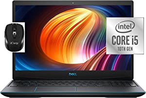 "Flagship 2020 Dell G3 3590 15 Gaming Laptop 15.6"" FHD Intel Quad-Core i5-10300H (Beats i7-8750H) 8GB DDR4 256GB SSD 1TB HDD 4GB GTX 1650 Backlit Webcam Thunderbolt Win 10 + iCarp Wireless Mouse"