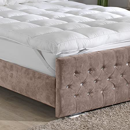 thick mattress topper. Premium Extra Deep 10 Cm Thick (4 Inches) Mattress Topper Luxury Cotton Cover -