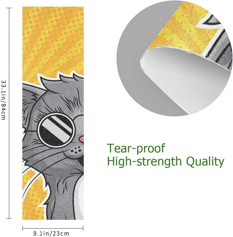 Cool Black Cat Skateboard Grip Tape Sheet Scooter Deck Sand Paper 9 x 33
