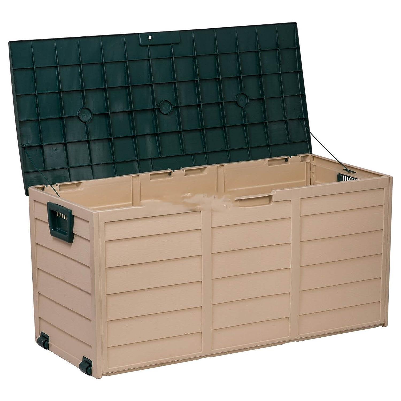 Al aire libre jardín plástico de almacenamiento Caja de baúl ...