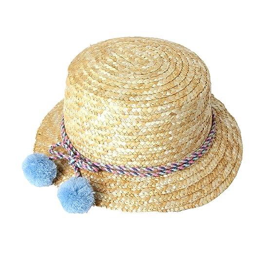 c2493d14f3ce3 JOKnet キッズ 麦わら帽子 子ども あごひも付き 帽子 子供用 UV 熱中症 ハット 紫外線
