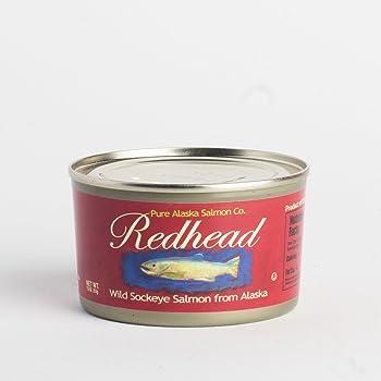 Redhead Wild Sockeye Alaska Canned Salmon