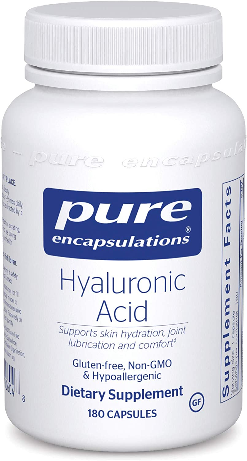 Pure Encapsulations Hyaluronic Acid   Supplement to Support Skin Hydration, Joint Lubrication, and Comfort*   180 Capsules