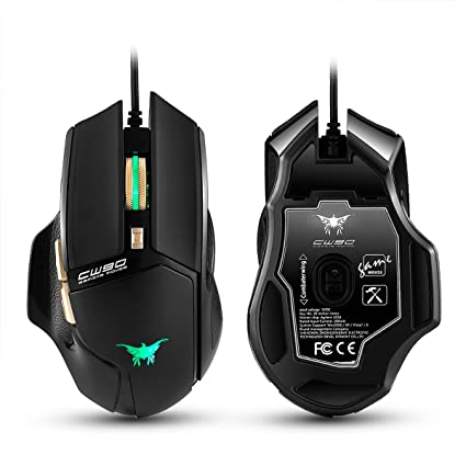 494e94f8498 3800 DPI Combaterwing CW90 Gaming Mouse Game Mice USB Wired Led 20 Millions  Key Life With