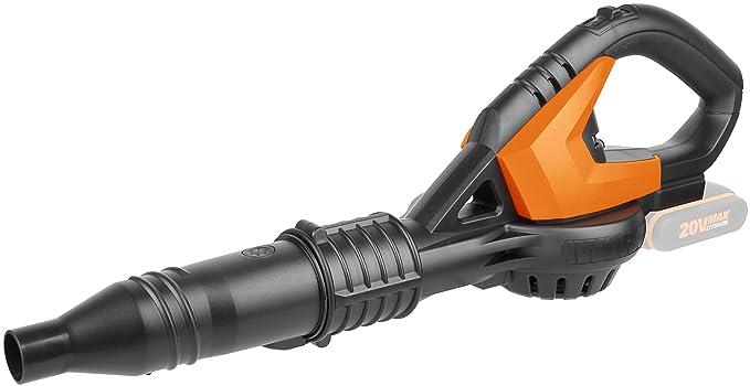 Worx wg548e.9 20 V batería soplador de hojas, multifunción ventiladores, hojas burbujas, polvo burbujas, Secar, Sin batería, cargador y accesorios