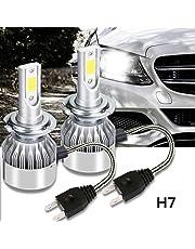 Zogin H7 LED Lampada Auto Anabbaglianti/Abbaglianti Illuminazione LED Notturna 36W 3800lm Luminosità Forte per Faro Anteriore Auto - 2pz