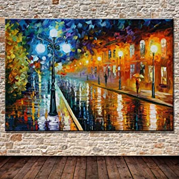 Gbwzz Gran Cuchillo Noche Streetscape Pictures Pintado a ...