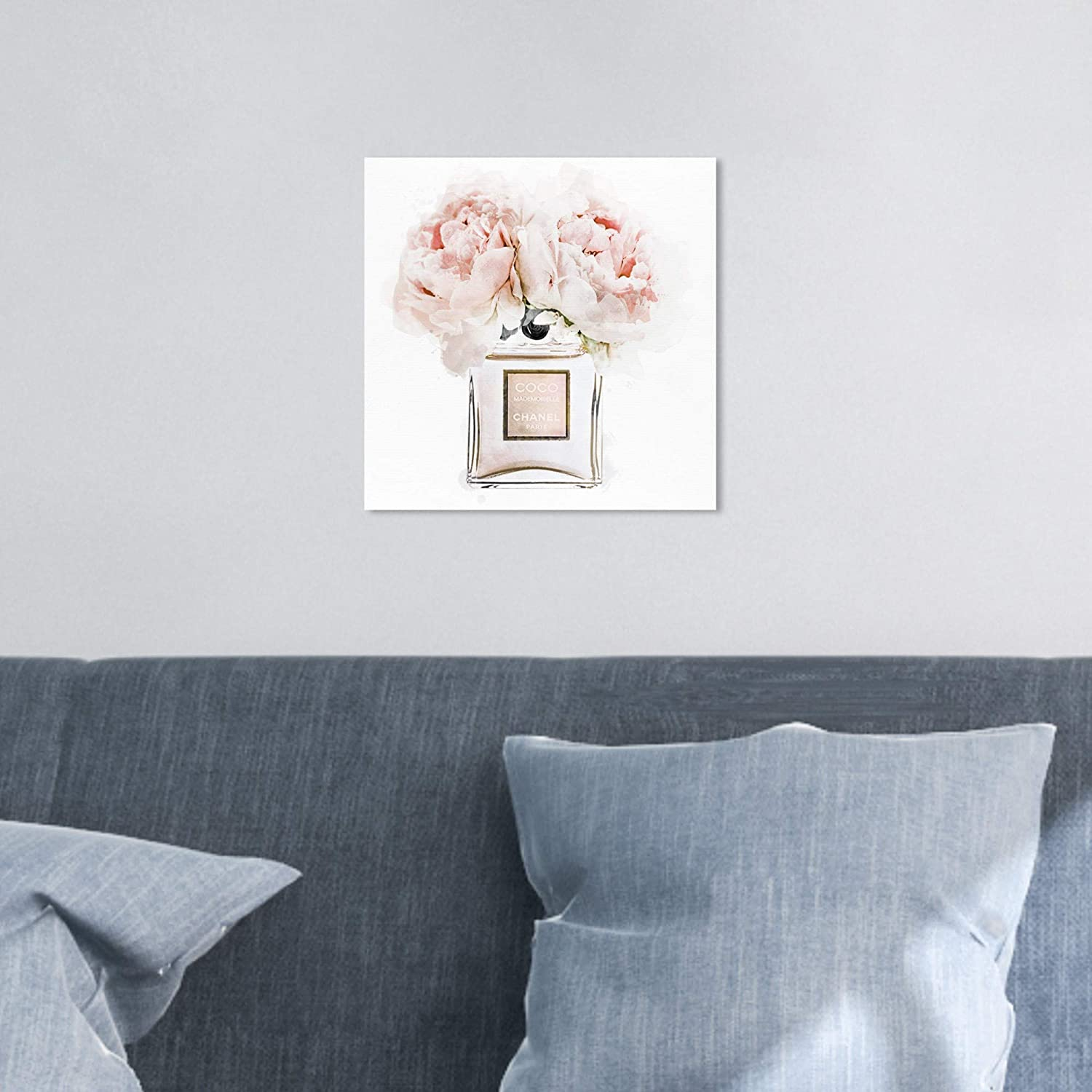 The Oliver Gal Artist Co Fashion And Glam Wall Art Canvas Prints Dawn Morning Bouquet Peach Home Décor 12 X 12 White Pink Home Kitchen