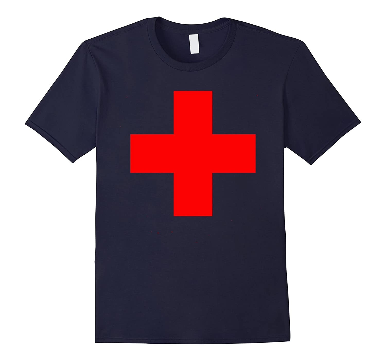 Large Medical Cross Emblem T-Shirt Medic Nurse MD EMT ER ED-CL