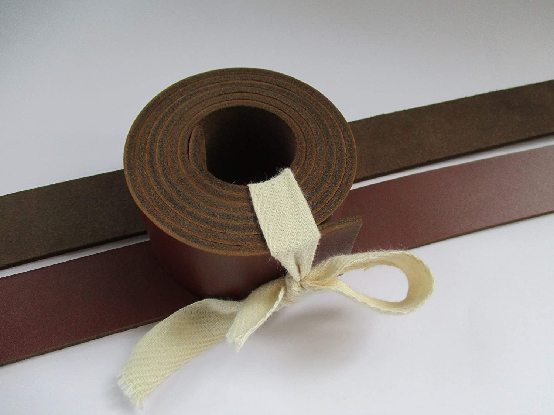 Genuine Natural Leather Belt Blank Strip Strap Band. Brown Cognac, 1 1//2 9-10 oz 51-55 38mm.