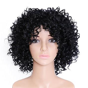 Kinky Lockige Haare Kurz Afro Perucken Frauen Perucken Echthaar