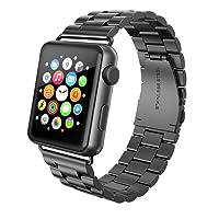 Apple Watch Armband 42mm, Swees Edelstahl Replacement Wrist Strap Band Uhrenarmband Schlaufe Smart Watch Armbänder mit Metallschließe für Apple Watch 42mm Series 3/2 / 1