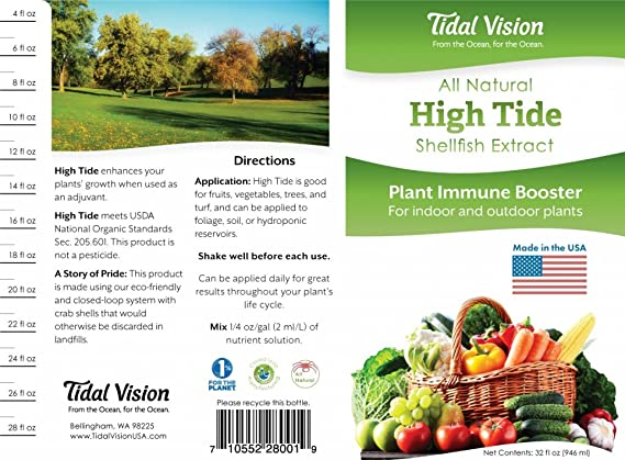 Tidal Vision- High Tide All Natural Plant Size & Immune Booster, 32oz