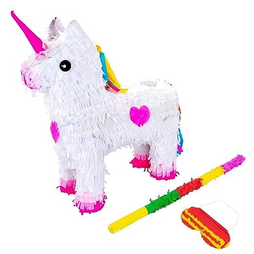 Patata de fax unicornio Piñata conjunto con el palillo y los ...
