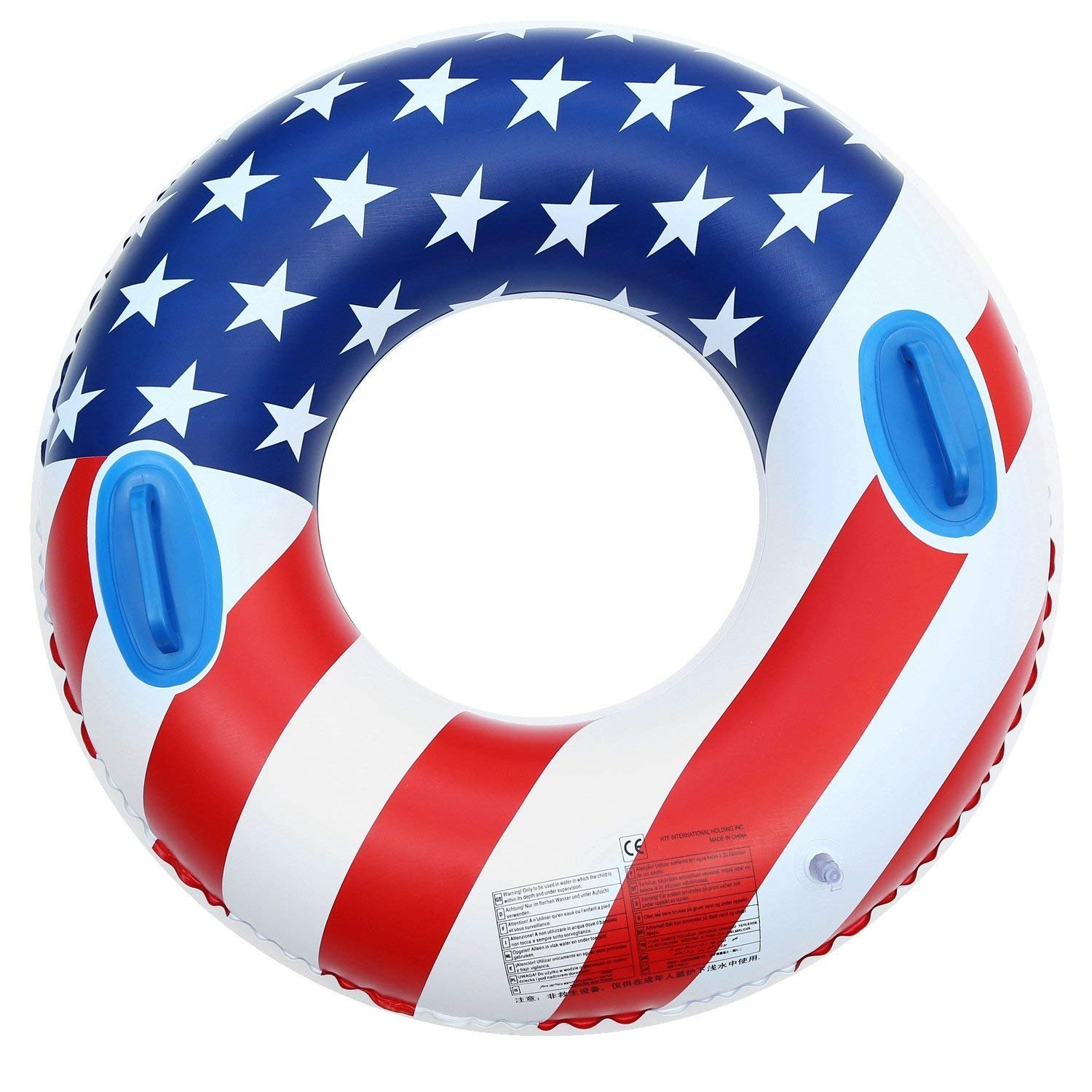 Baifeng Swimming Inflatable Pool Floats,Giant Flag Swimming Ring Toys for Adults and Kids, Summer Beach Funny Water Large Float Pool 35.4''(Random style)