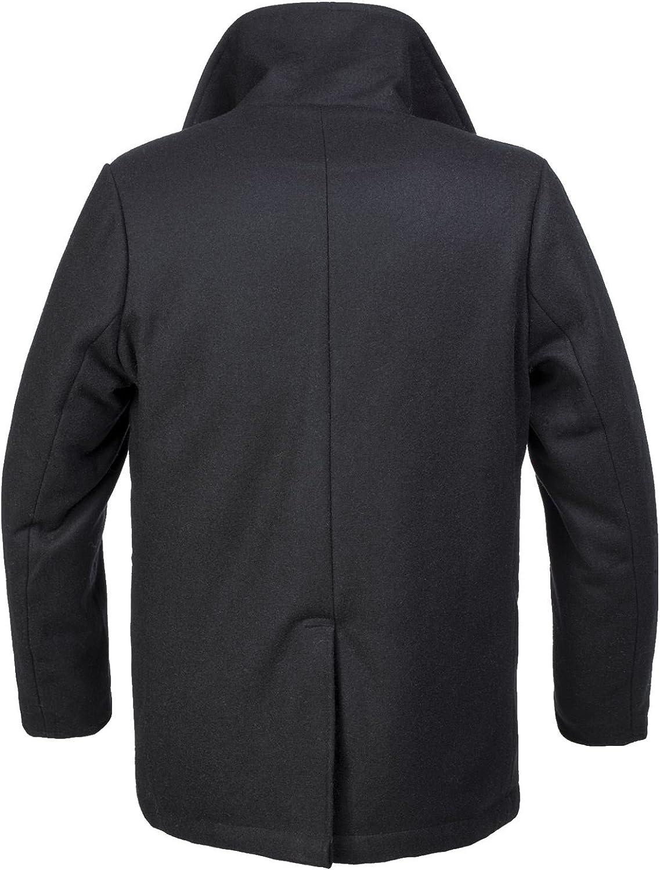 color negro estilo marinero Brandit Mariner Abrigo para hombre