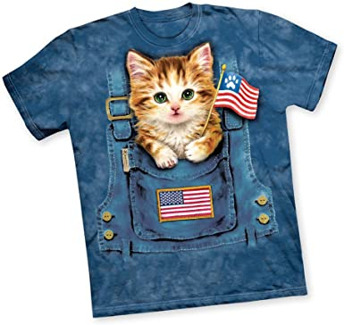 CoolGearBox Funny Cat Shirts Men Women Pawtriotic Printed in USA