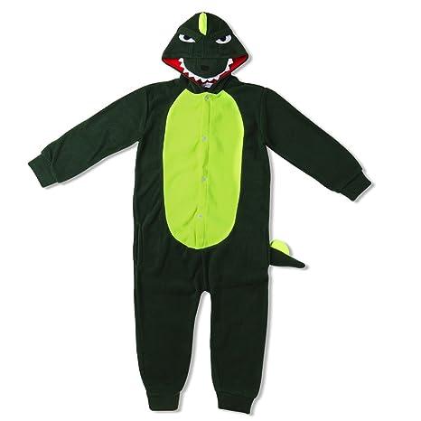 Katara- Pijama con capucha para niños cocodrilo, Color Verde ...