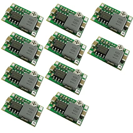 10 unidades de mini convertidor de 360 DC a DC Buck m/ódulo de descenso 4.75 V-23 V a 1 V-17 V